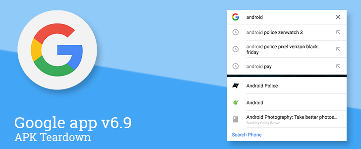 Google app v6.9 beta is preparing to offer smarter autocomplete suggestions, search offline maps, and introduce a custom image viewer [APK Teardown]