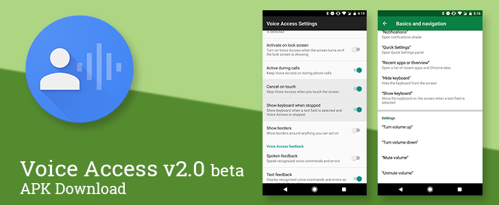 Voice Access 2 0 beta adds voice commands to toggle the keyboard and