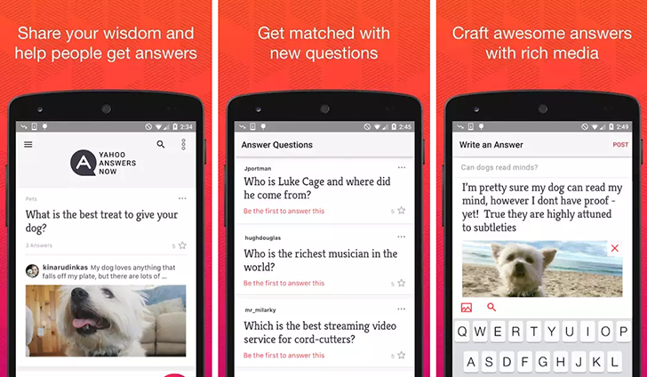 Yahoo Answers Now comes to Android with all its useful, random, and weird Q&As