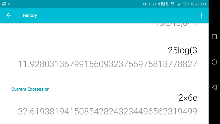 Google updates Calculator to v7.2, adds calculation history [APK Download]