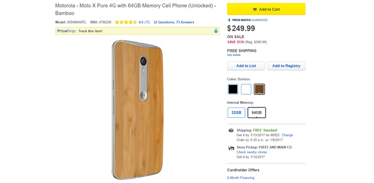 [Deal Alert] Grab a 64GB Moto X Pure Edition from Best Buy for $250 ($150 off)