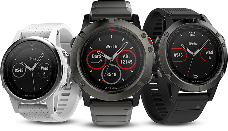 Garmin launches new fēnix® 5 sports and smartwatch series, adds Uber, nuun, and more apps