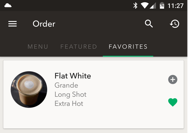 Mercifully, Starbucks app now lets you save your favorite drinks
