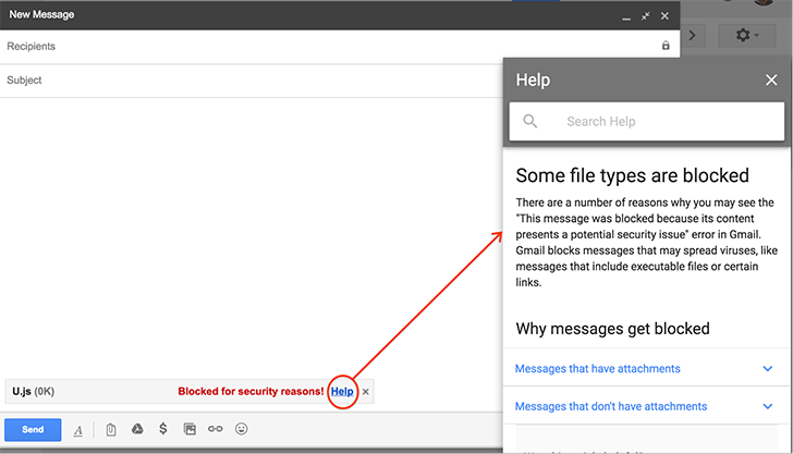 Gmail won't allow JavaScript file attachments starting