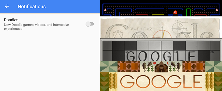 Google now allows users to opt into receiving notifications when a new Doodle is posted