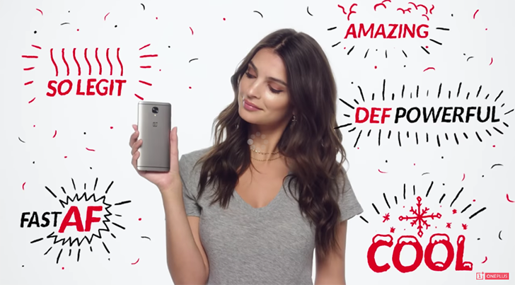 Watch Emily Ratajkowski explain how Dash Charge works on the OnePlus 3 and 3T