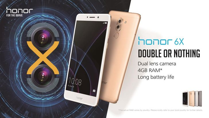 Honor announces the Honor 6X with dual cameras, Kirin 655 SoC, and Android 6.0 for $249