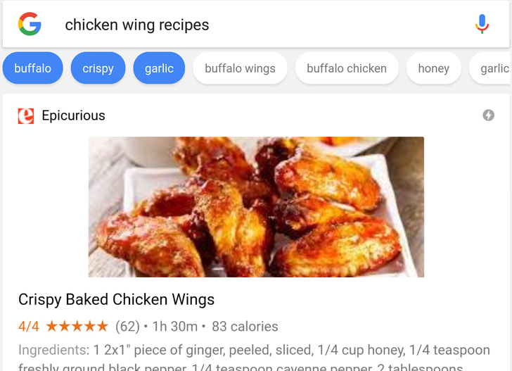 Google adds a recipe carousel UI to your culinary search results