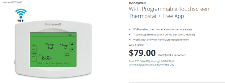 [Deal Alert] Get a Honeywell Wi-Fi thermostat for $79 ($70 off), but hurry
