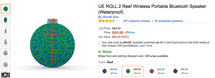 [Update: $50 at Verizon in all colors] [Deal Alert] Get a UE ROLL 2 Bluetooth speaker for just $49.99 ($50 off) from Amazon