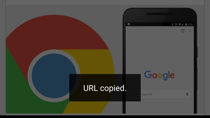 Tips: Various ways to copy URL in Chrome for Android and Chrome Custom Tabs
