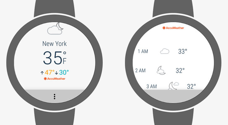 AccuWeather releases standalone Android Wear 2.0 app