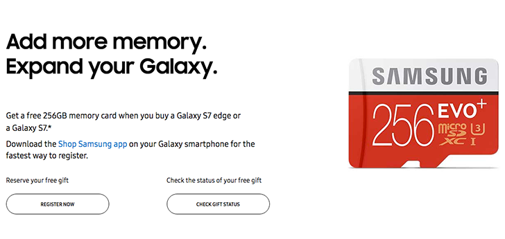 [Deal Alert] Get a free 256GB MicroSD card when you buy a Galaxy S7 or S7 Edge