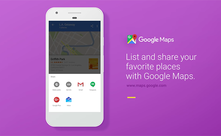 Google Maps list sharing is official, will start rolling out today