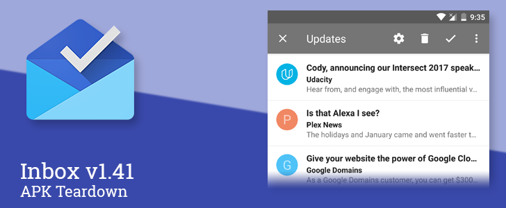 Inbox v1.41 prepares to intelligently choose snippets from emails and allow sorting [APK Teardown]