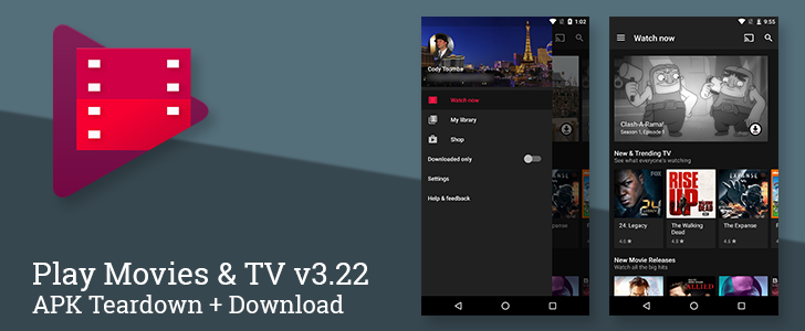 Play Movies & TV v3.22 switches to a dark theme and prepares to link with other streaming and cable services [APK Download + Teardown]