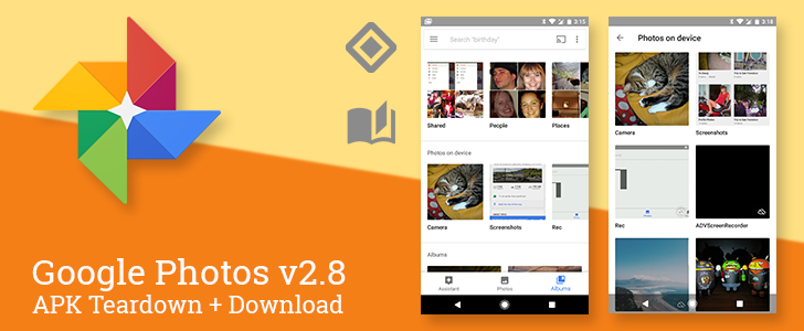 Google Photos v2.8 rearranges Albums and Device Folders, prepares for Nearby sharing and Auto-stories [APK Teardown + Download]