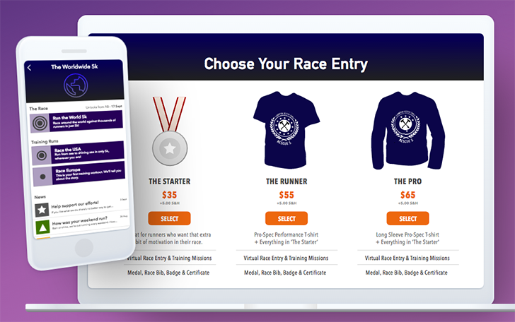 Racelink from the makers of Zombies, Run! is a virtual racing platform for brands and charities