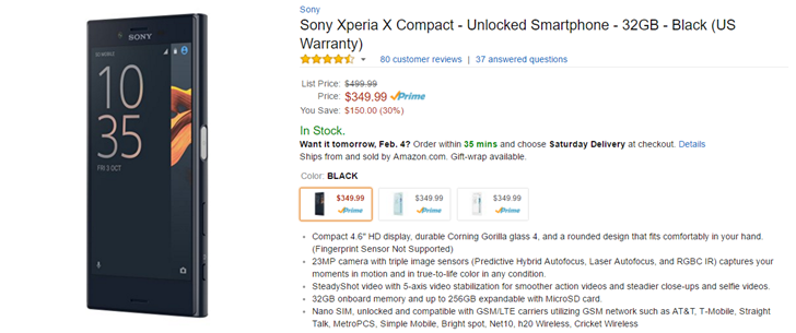 Deal alert sony xperia x compact drops to just 350 150 off at back around the time of the galaxy nexus i recall a counter culture developing calling for an end to the insanity of oversized phones with screens as big fandeluxe Image collections