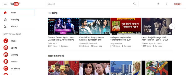 Material redesign for YouTube rolling out to more users