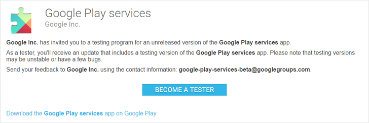 how to sign up for google play services