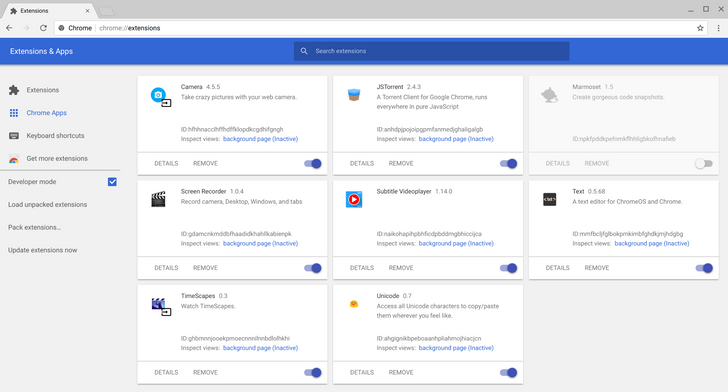 Google brings Material Design to the Chrome extensions page