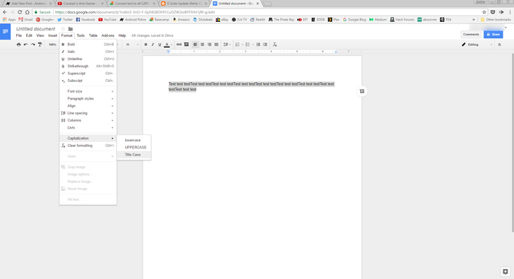 Google Docs now makes it easier to change your documents' text capitalization