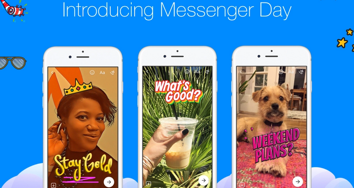 Facebook introduces the stories-like Messenger Day
