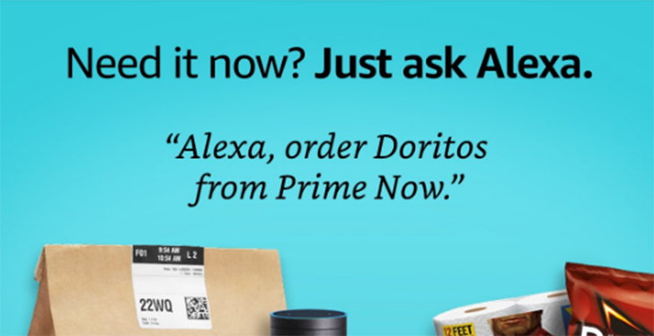 [Deal Alert] Amazon will give you $5 to order from Prime Now using Alexa