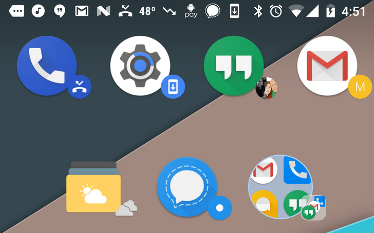 Nova Launcher 5.1 beta adds 'dynamic icons' that pull badges from notification content