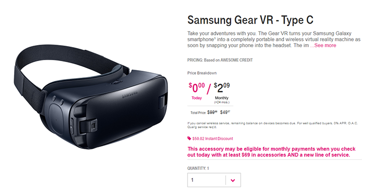 [Deal Alert] T-Mobile is selling the Gear VR for $49.97 (50% off)