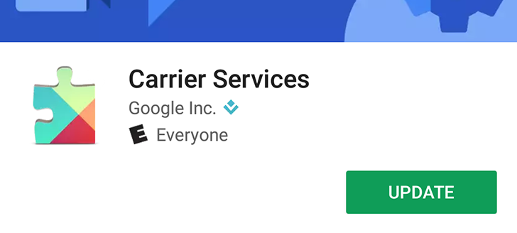 Google Carrier Services moves to the Play Store, but it does