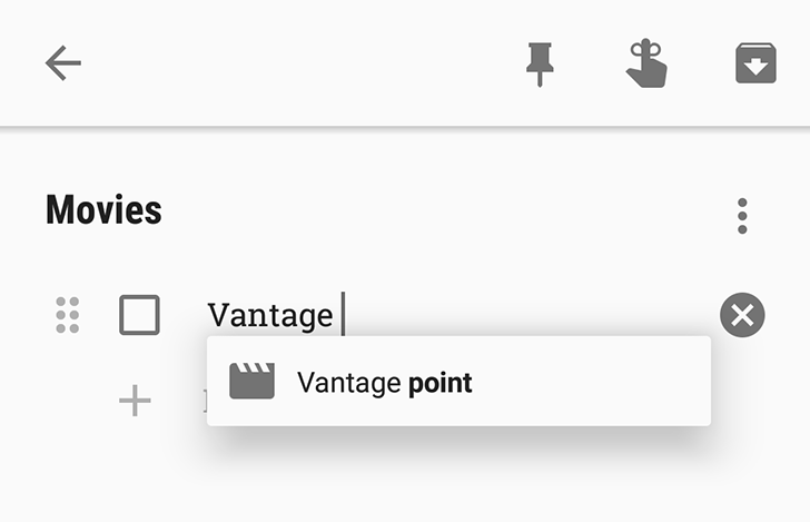 [Neat] Google Keep can autocomplete movie and TV show titles