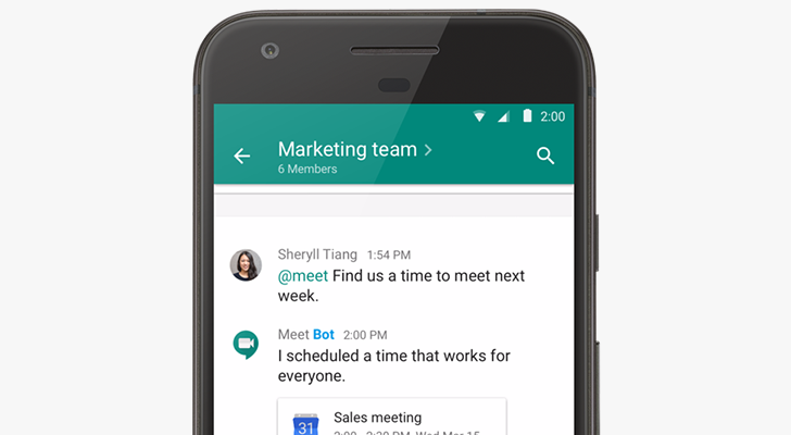 Google officially splits Hangouts into 'Meet' and 'Chat,' new apps and @meet chat bot coming soon