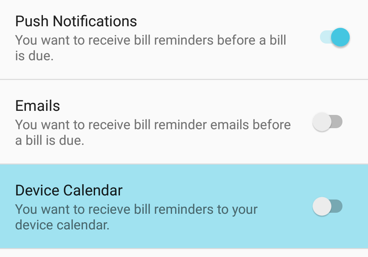 Mint updated with option to sync bill reminders to your calendar