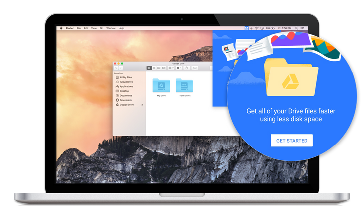 Drive File Stream for G Suite lets you access all your files without using all your disk space