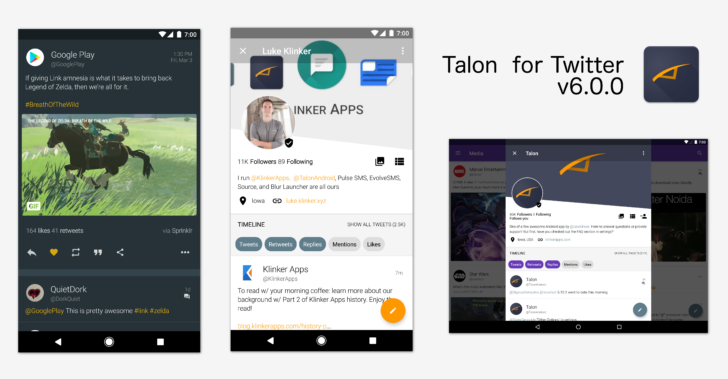 Talon for Twitter gets a big UI revamp in v6.0 update