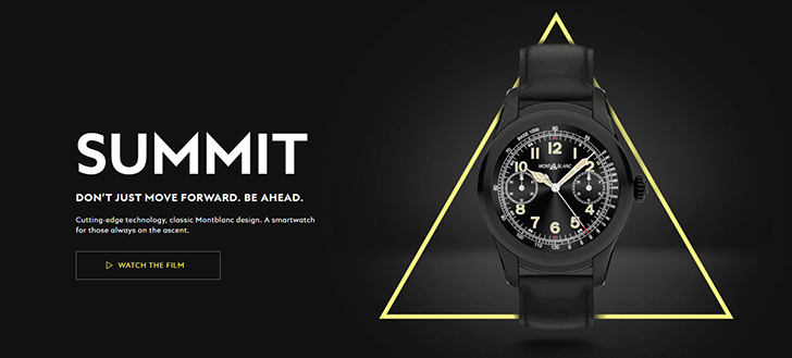 The Montblanc Summit is another luxury Android Wear watch, starting at $890