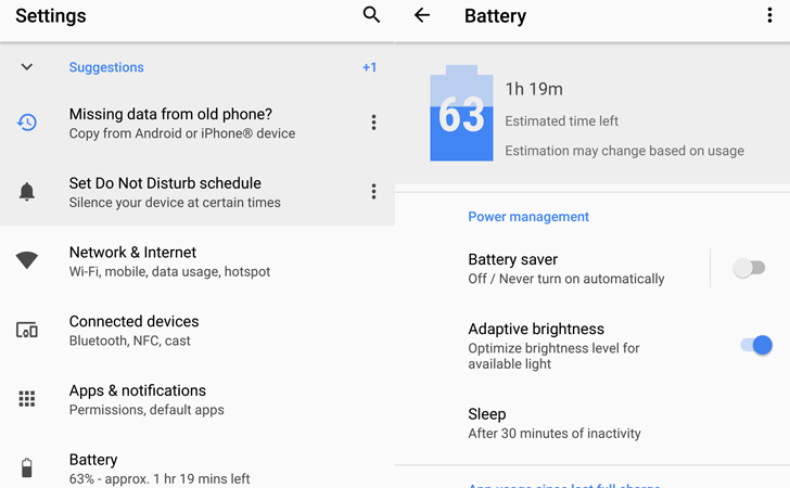 Android O feature spotlight: The settings app has been completely overhauled