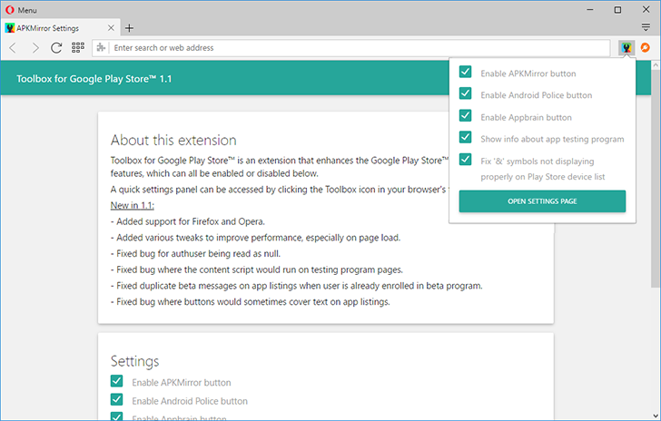 Toolbox for Google Play Store, our Chrome extension for