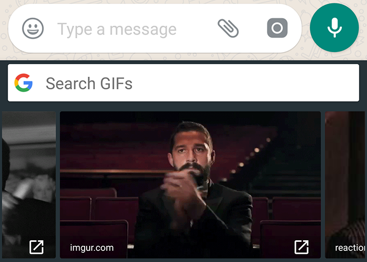 WhatsApp adds Google Gboard GIF support