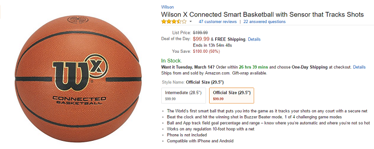 [Deal Alert] Wilson X Connected Basketball is $99 at Amazon and Best Buy ($100 off)