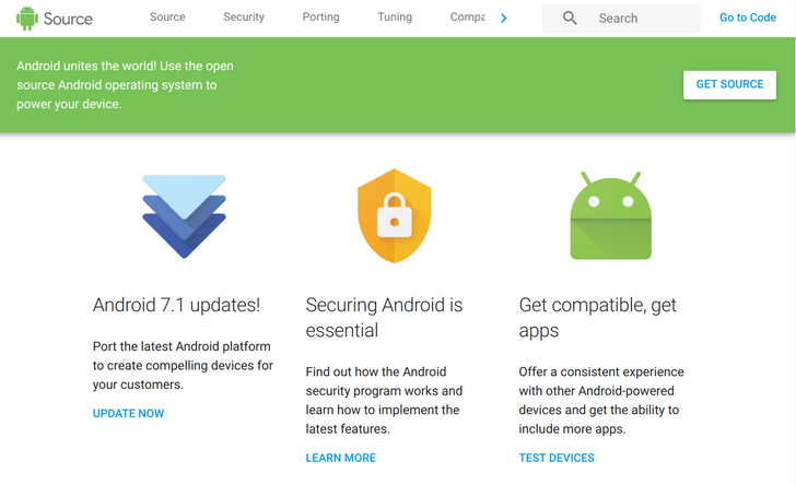 AOSP site gets updated with Material Design, a better mobile view, and clearer navigation