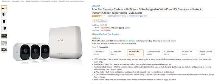 [Deal Alert] Snag an Arlo Pro 3-pack from Amazon for $500 ($80 off)