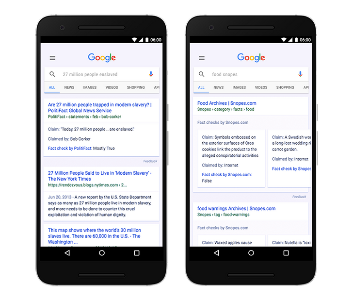 Fact Check goes global for Search and Google News results