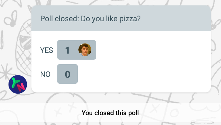 You can now make polls in Allo, but only for yes/no questions