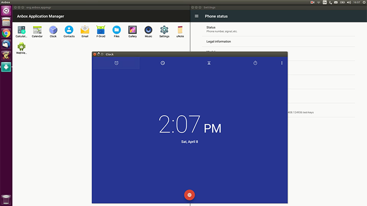 Anbox runs Android apps alongside desktop applications on Linux