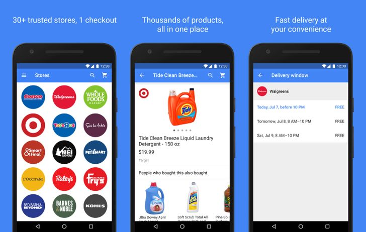 Google Express updated to include offline shopping list support, remove substitutions