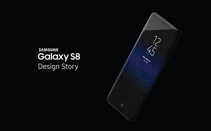Samsung celebrates the S8's design with a story book and an interactive presentation for Milan Design Week