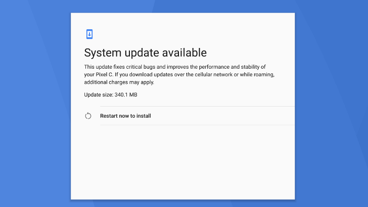 Android 7.1.2 appears to be rolling out now to Nexus Player and Pixel C
